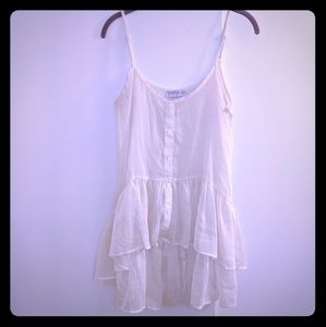 Cotton On sz S sheer off white tank top